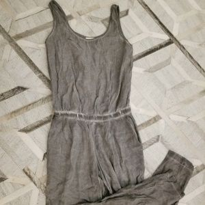 Anthropologie Cloth & Stone Gray Chambray Jumpsuit